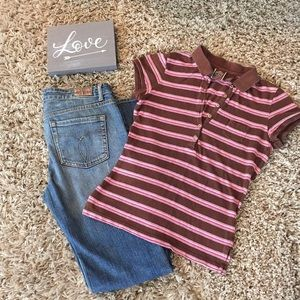 Women's Aeropostale Short Sleeve Polo Shirt